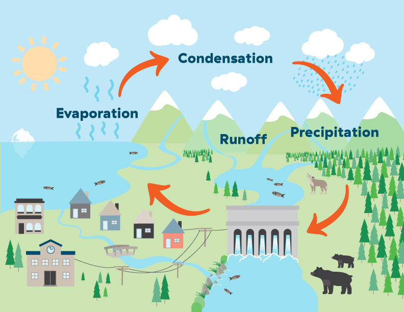 Make A Water Cycle Mobile Bchydro Power Smart For Schools