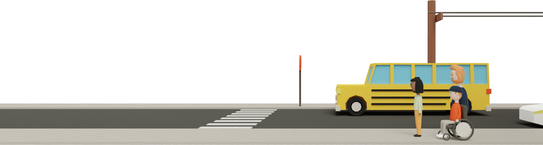 Safety street scene