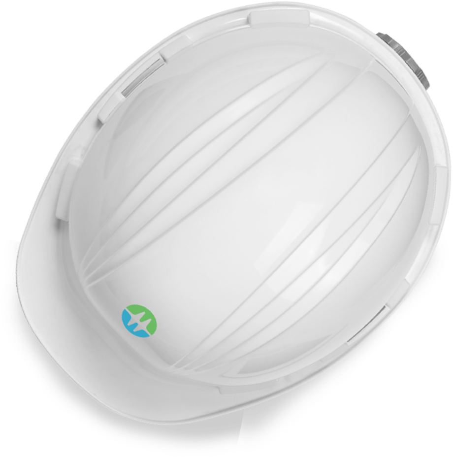 A white BC Hydro hardhat